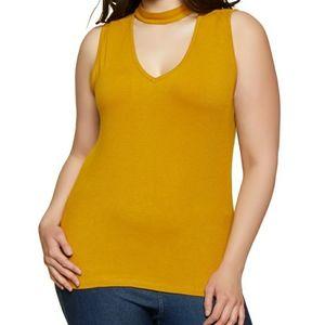 Mustard Yellow Choker Top